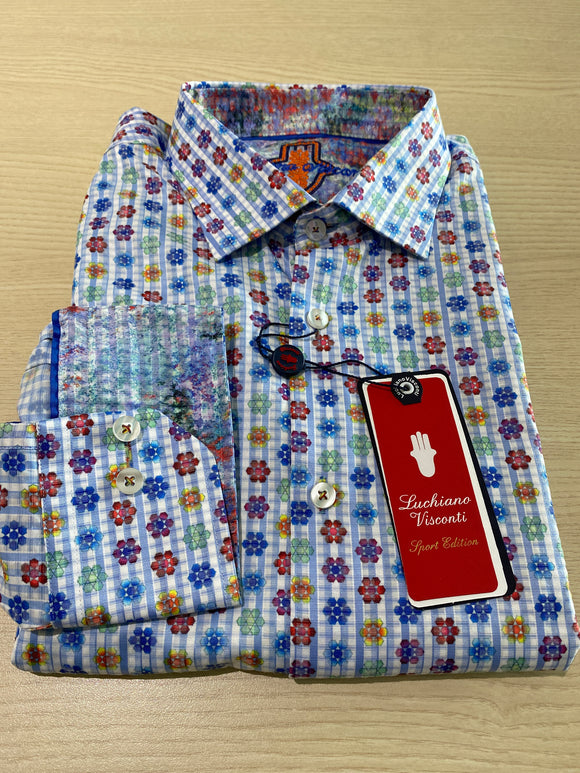 Luchiano Visconti Flowers L/S Shirt