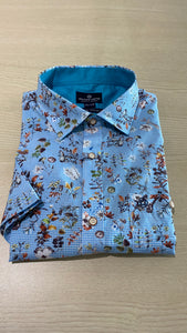 Fellows United Flowers Print S/S Shirt