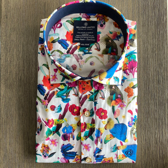 Fellows United Colourfull FLowers S/S Shirt