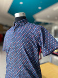Luchiano Visconti Monsoon Multi Herringbone Short Sleeve Shirt