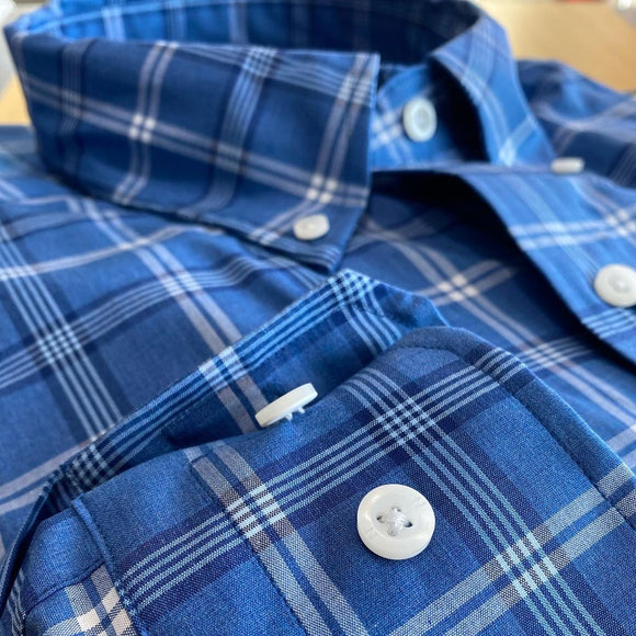 Nautica Wrinkle Resistant Plaid L/S Shirt