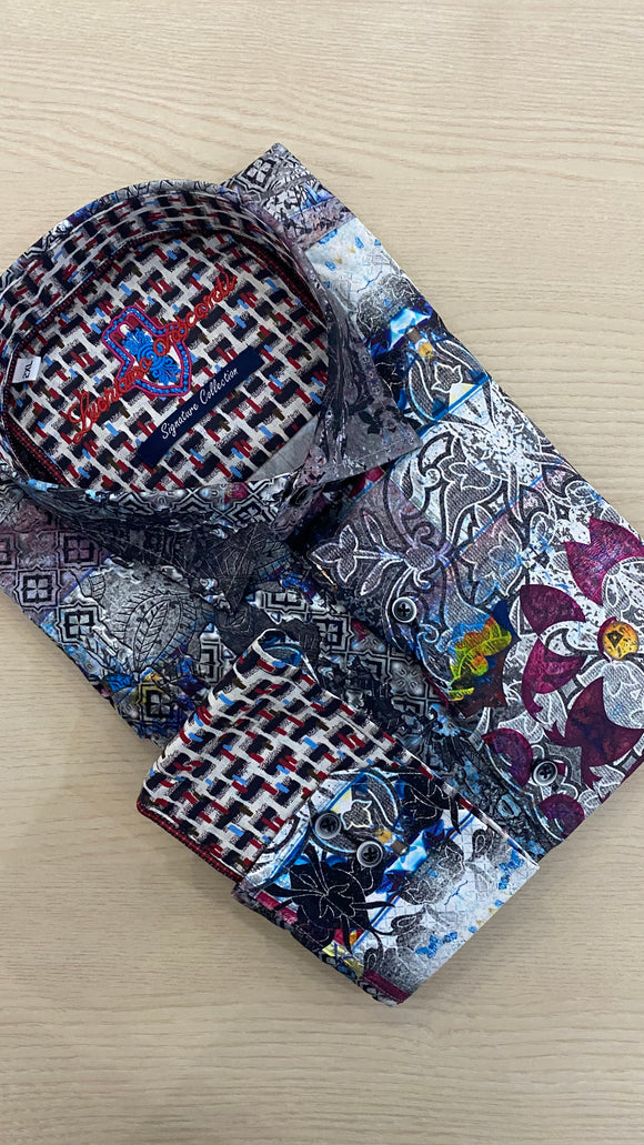 Luchiano Visconti Multi Shapes and Designs L/S Shirt