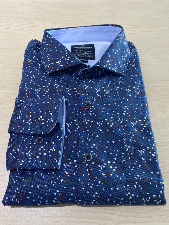 Fellows United Coloured Spot L/S Shirt