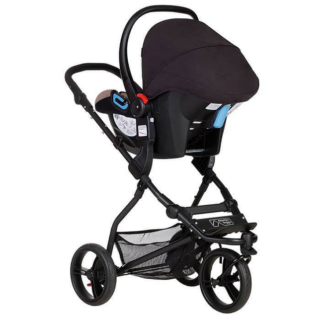 Mountain Buggy mini stroller in silver colour with travel system_silver