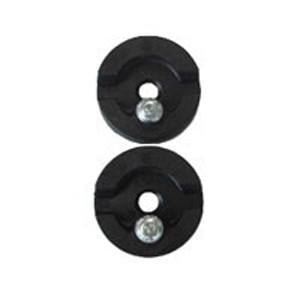 Mountain Buggy pair of plastic bushes designed to support sun hood when attached to buggy frame in colour black_black