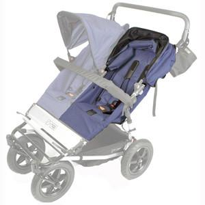 Mountain Buggy single duo buggy lefthand seat fabric shown fitted on buggy in navy_navy
