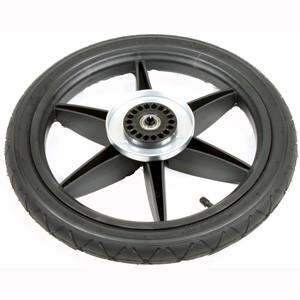 Mountain Buggy terrain buggy replacement rear wheel showing brake hub wheel hub tyre and tube in black_black