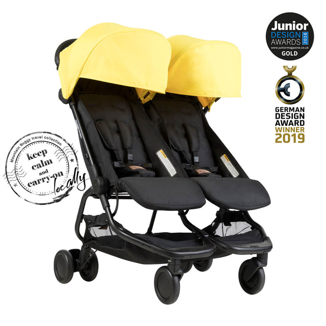 Mountain Buggy nano duo double lightweight buggy is a Junior Design and German Design award winner in colour cyber_cyber