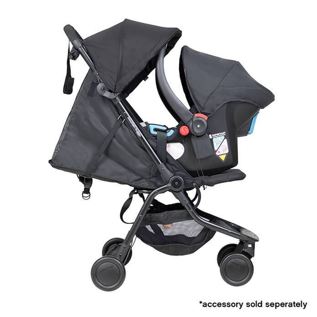 mountain buggy nano travel buggy in black colour with protect baby capsule for newborns_black