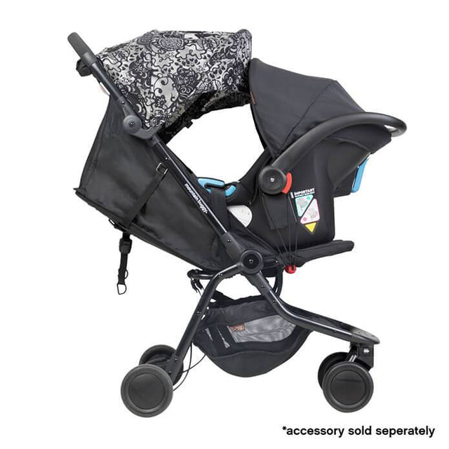 mountain buggy nano travel buggy in year of dog colour with protect baby capsule for newborns side on view_year of pig