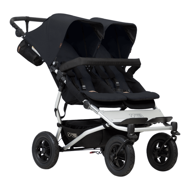 Mountain Buggy duet double buggy made for mums and oh baby award winner in colour black_black