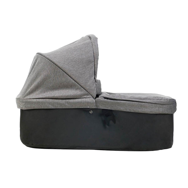 mountain buggy duet carrycot plus in lie flat mode side view shown in color herringbone_herringbone