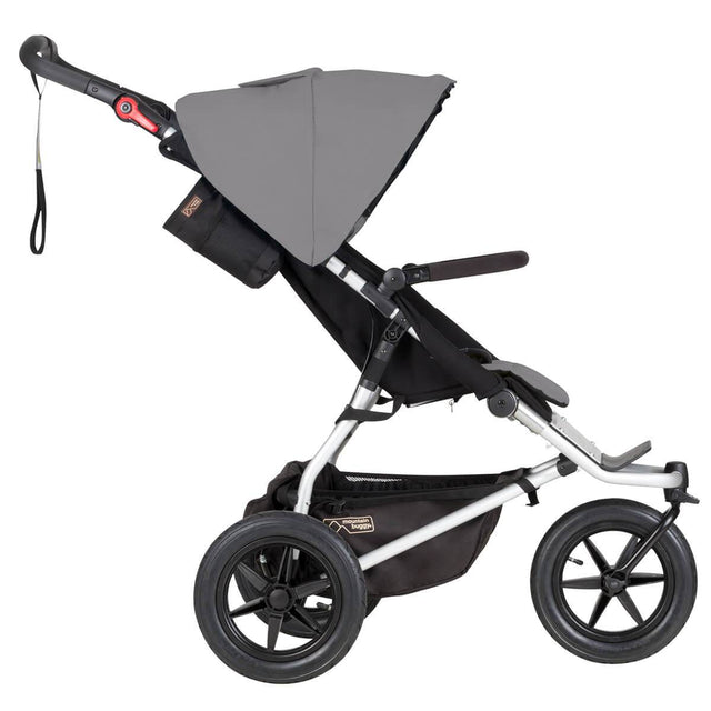 mountain buggy urban jungle all-terrain buggy side view shown in color silver_silver