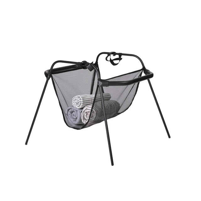 mountain buggy carrycot stand for carrycot plus and newborn cocoon 3/4 view_black