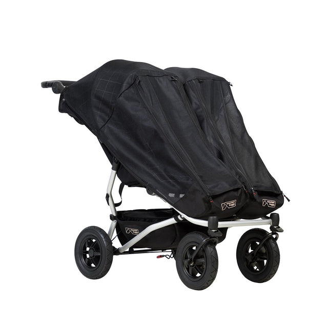 Mountain Buggy duet with 2 single custom fit sun mesh covers_default
