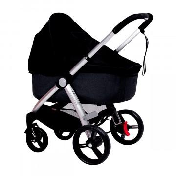 Mountain Buggy cosmopolitan bassinet sun mesh cover in black_black