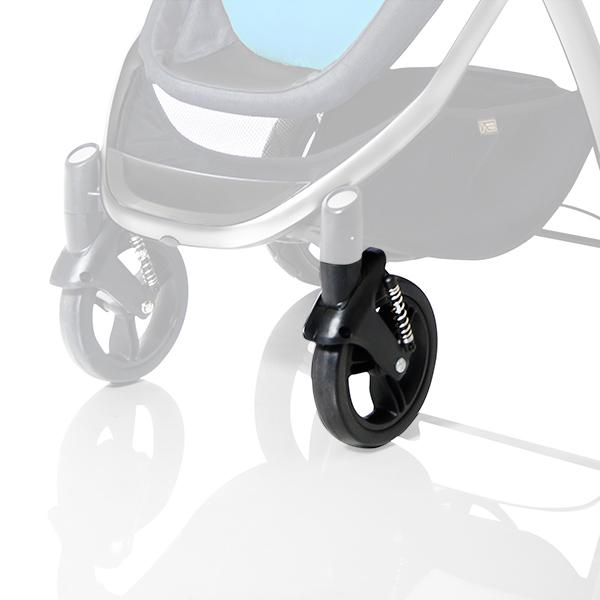 mountain buggy cosmopolitan 4 wheel luxury compact stroller front wheel_black