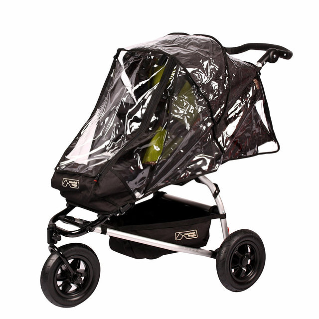 mountain buggy pre-2015 MB mini and swift storm cover open on swift buggy 3/4 view_default