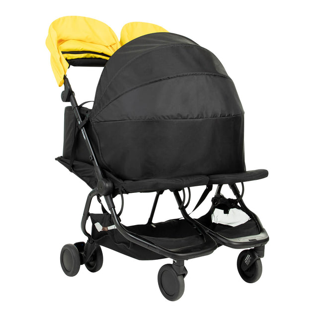 cocoon™ for twins shown as an example in place on a Mountain Buggy nano duo stroller