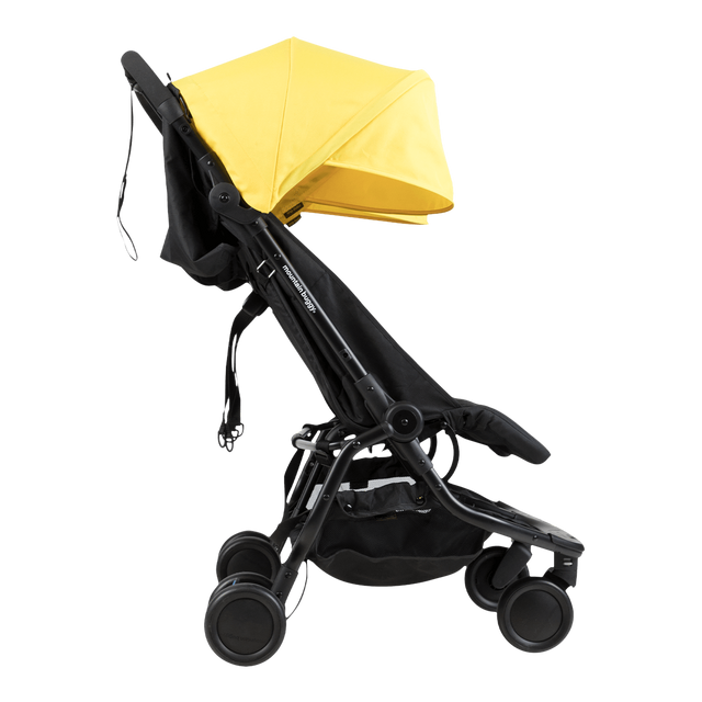Mountain Buggy nano duo double lightweight buggy side view in colour cyber_cyber