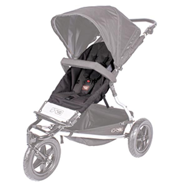 Mountain Buggy legacy plus one buggy replacement seat fabric shown in black_black