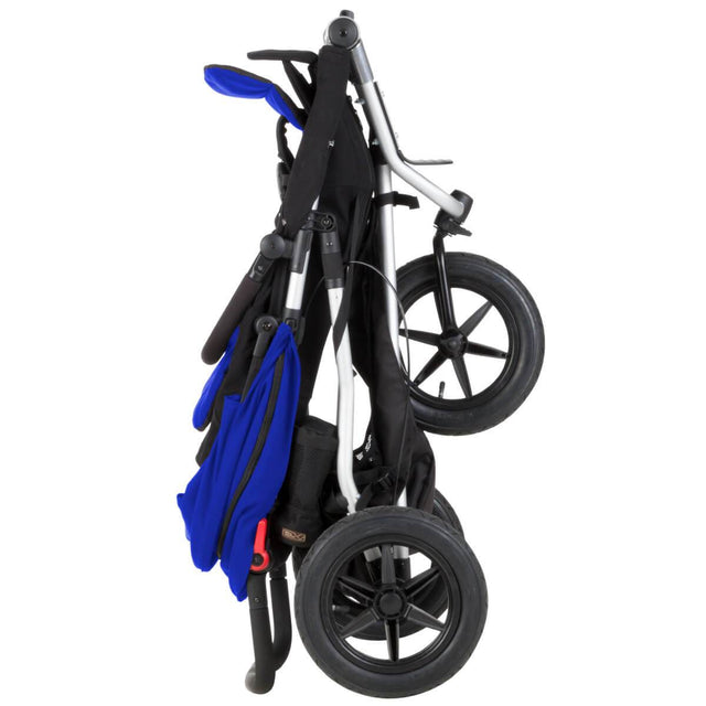 Mountain Buggy +one stroller in marine blue colour folds compactly_marine