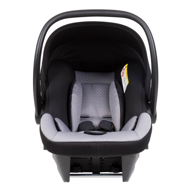 protect 2020 infant car seat shown front on_black-silver