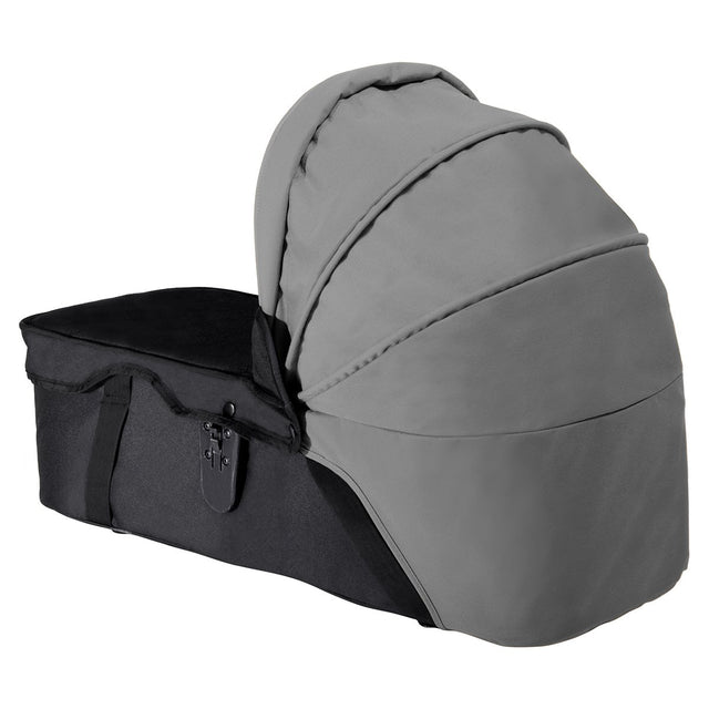 mountain buggy sunhood for pre-2014 swift mini and duet carrycot 3/4 view shown in color flint_flint