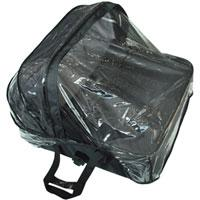Mountain Buggy twin carrycot storm cover shown on carrycot with trim in black_black