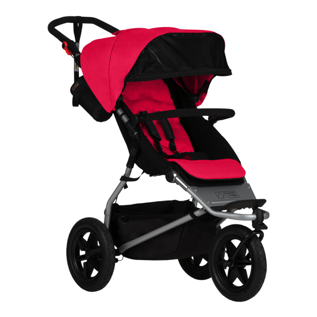 mountain buggy urban jungle all-terrain buggy 3/4 view shown in color berry_berry