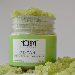 Norm Naturals De-Tan Green Tea Scrub- Face and Body Scrub - Norm Naturals