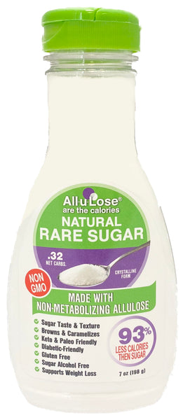 Crystalline All-u-Lose, Natural Rare Sugar, Non-GMO Allulose - 7 oz.