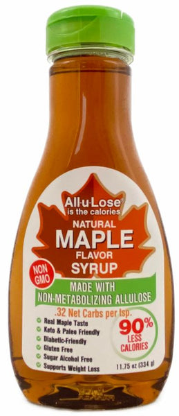 Natural Maple flavored Non-GMO All-u-Lose Syrup - 11.75oz Bottle