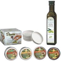 Dean Jacob's 9 piece Collection with 4 Bread Dipping Tins, Saucers & Cold Pressed Olive Oil