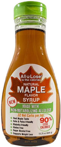 Natural Maple Flavored All-u-Lose Syrup - 11.75oz Bottle