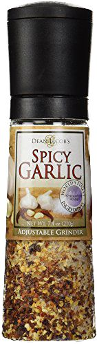 Dean Jacob's Spicy Garlic Chef Size Grinder Mill ~ 7.4 oz