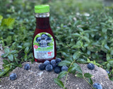 Natural Blueberry flavored Non-GMO All-u-Lose Syrup - 11.75oz Bottle