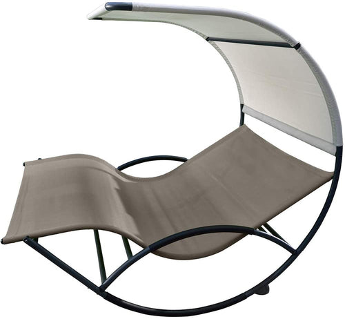 Double Chaise Rocker - Aluminum
