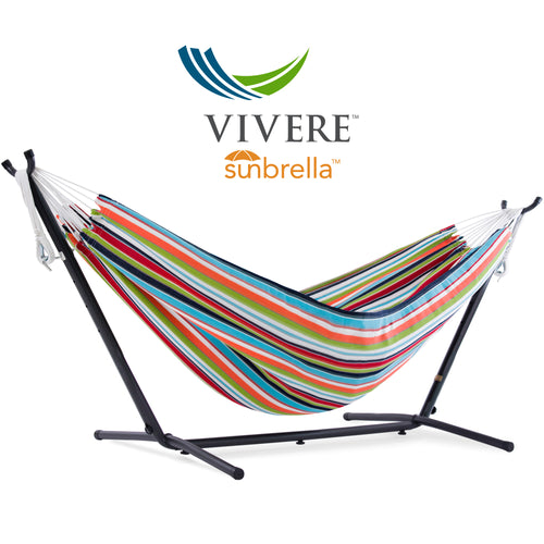 Double Sunbrella® Hammock with Stand Combo (250 cm)