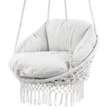 Load image into Gallery viewer, Polyester Macrame Deluxe Chair With Finge