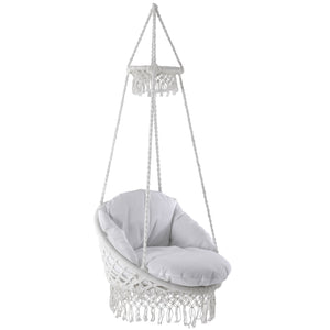 Polyester Macrame Deluxe Chair With Finge
