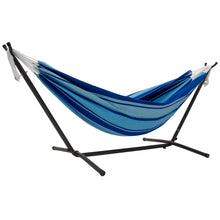 Load image into Gallery viewer, Double Cotton Hammock with Stand Combo