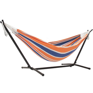 Double Cotton Hammock with Stand Combo