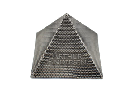 Arthur Andersen Houston Alumni Party Metal Pyramid - 1996 - Wall Street Treasures