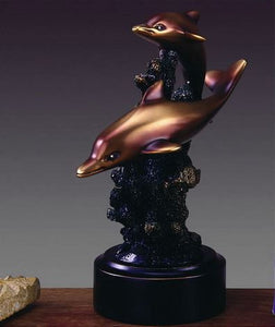 "7"" Two Playing Dolphins Statue - Wall Street Treasures"