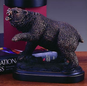 "5"" Bear Growling and Pawing Statue - Wall Street Treasures"
