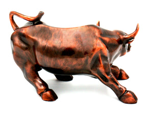Large Wall Street Bull Statue - Copper - Wall Street Treasures