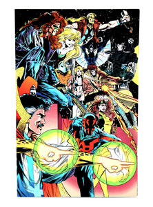 1992 Marvel Comics Annual Report #2 with Uncut Trading Cards - Spider-Man - Wall Street Treasures