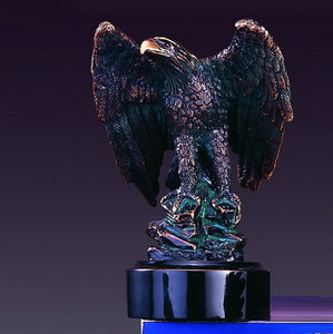 "6"" Perched Eagle Statue - Wall Street Treasures"
