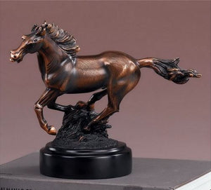 "10.5"" Galloping Horse Statue - Wall Street Treasures"